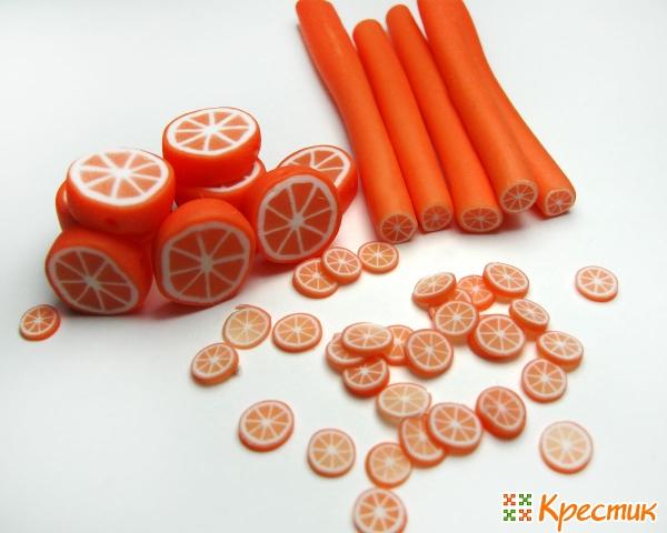Апельсиновые колбаски из глины