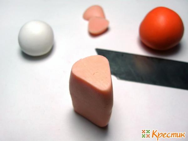 Колбаска с треугольным сечением