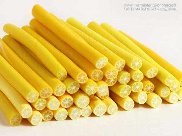 Лимонные колбаски из глины