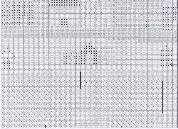 Схема для вышивки корабликов