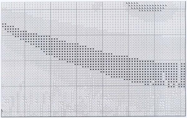 Схема для вышивки крестом позитивного берега