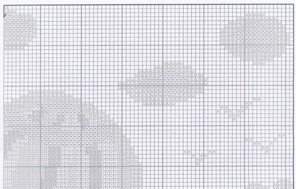 Схема для вышивки крестом прогулки по волнам