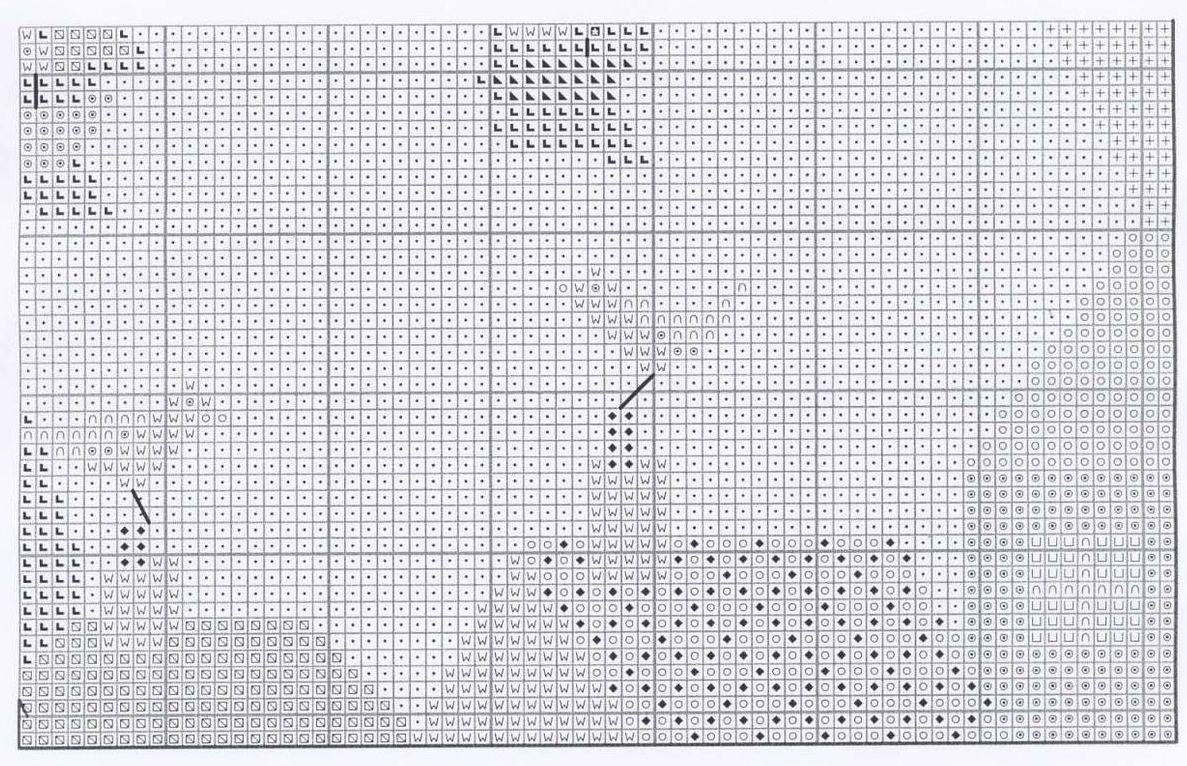 вышивки крестом волнам схема по