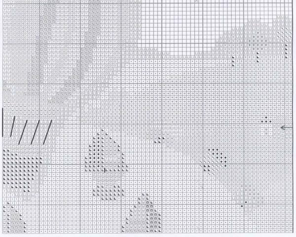 Схема для вышивки прогулки по волнам