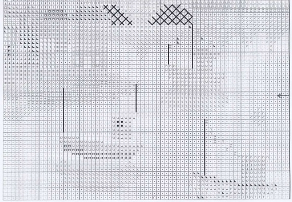 Схема для вышивки яркого берега