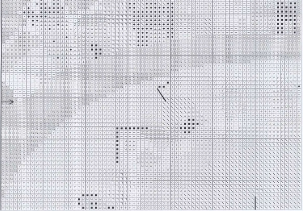 Схема вышивки крестом корабликов
