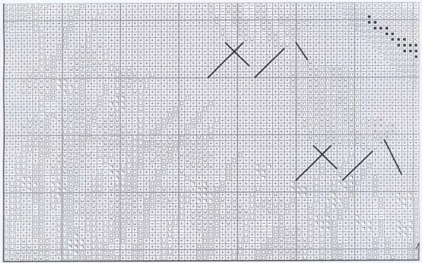 Схема вышивки крестом позитивного берега