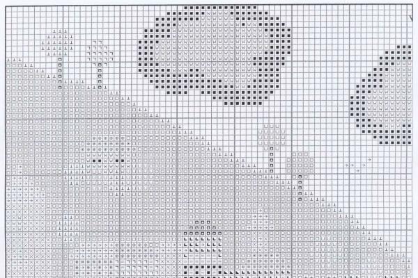 Схема вышивки крестом яркого берега