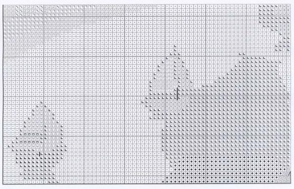Схема вышивки прогулки по волнам позитива