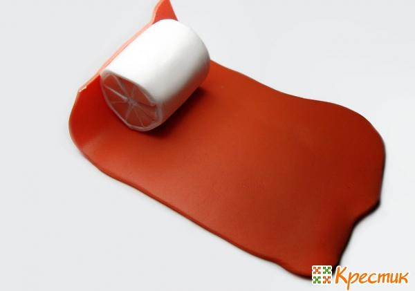 Слой оранжевой глины