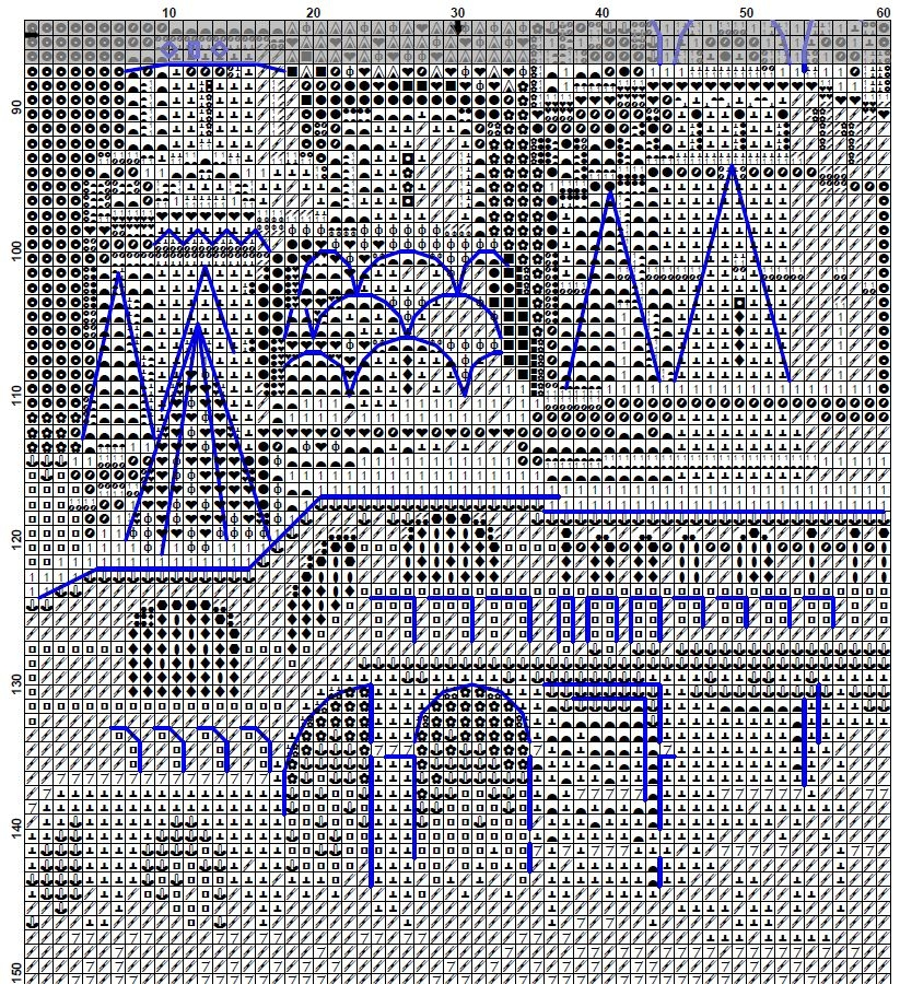 Схема вышивки храма