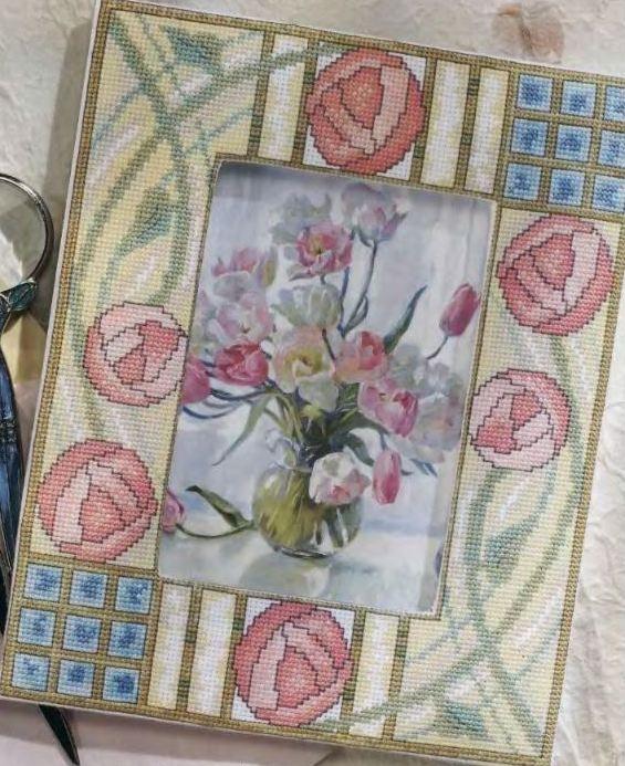 Рамка с розами для фото
