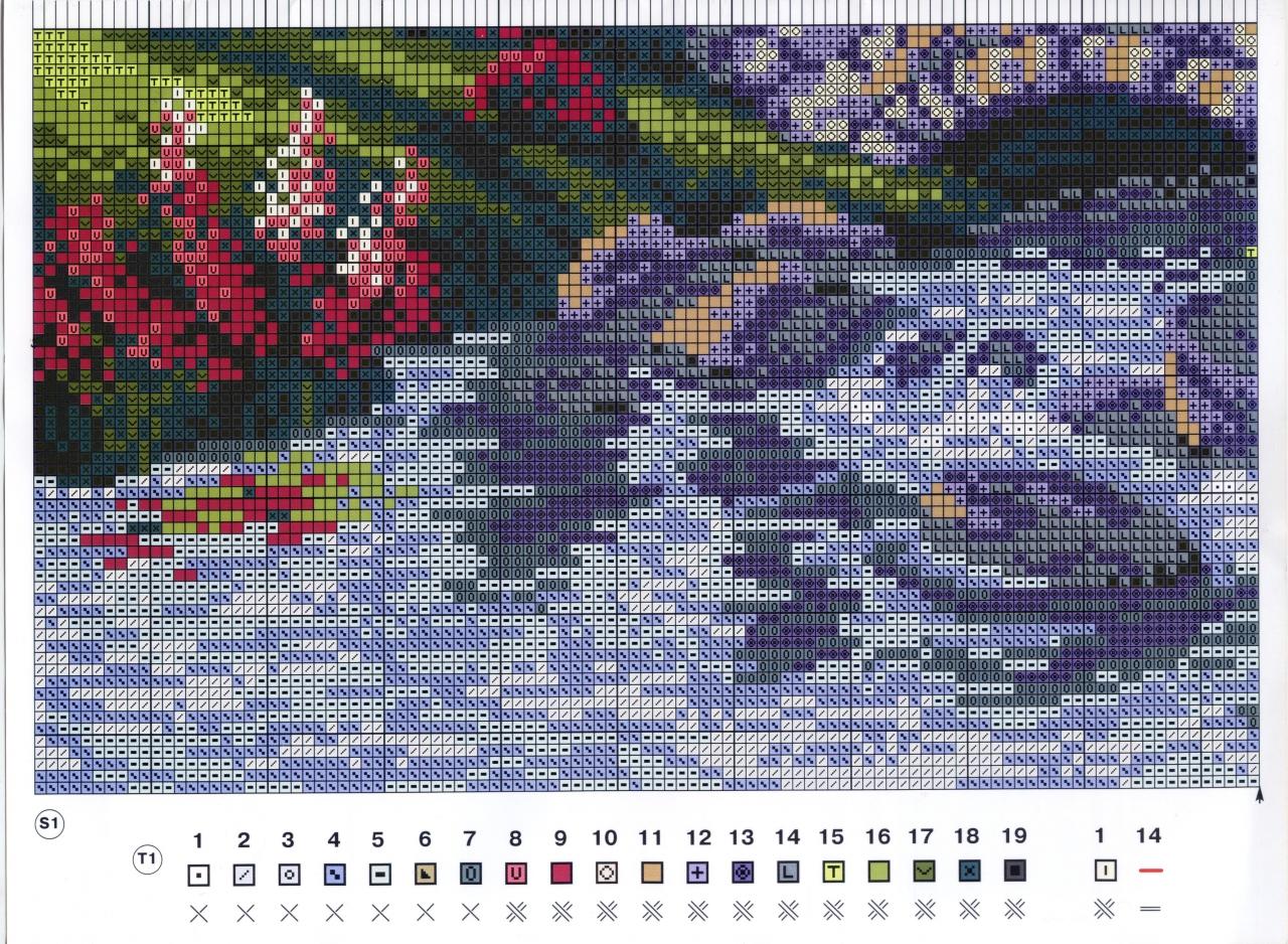 Схемы для вышивок крестом природа 519