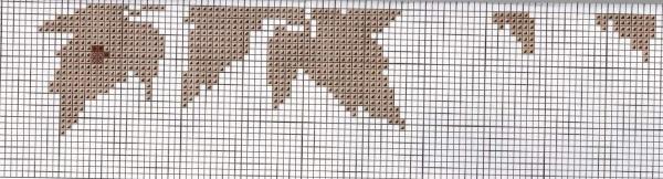 Схема для вышивки ветки клена