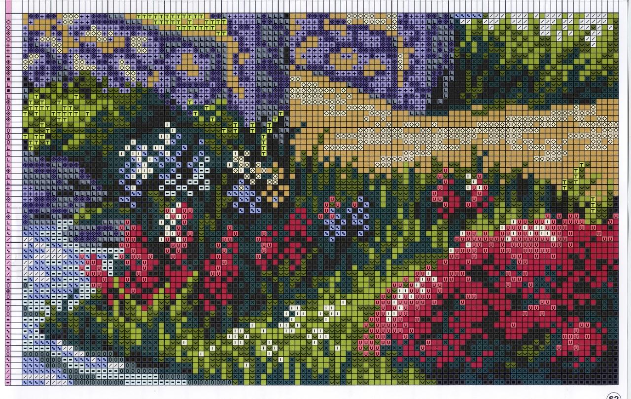 схема вышивки rhtcnjv пейзаж;