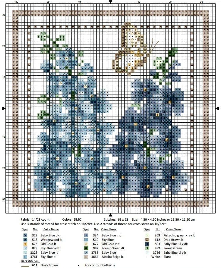 Схема вышивки крестом июль