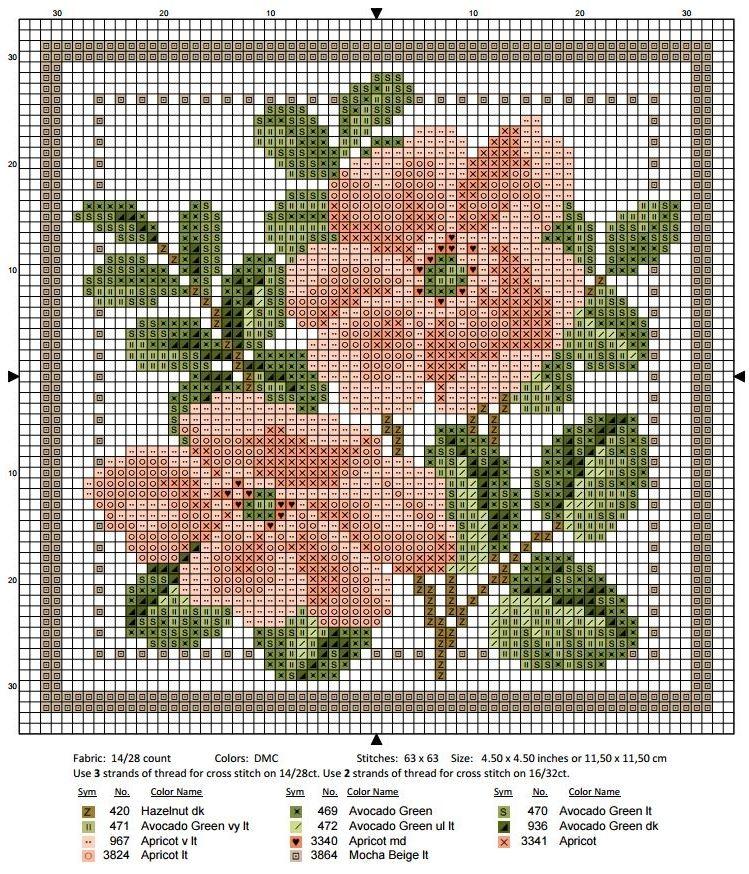 Схема вышивки крестом июнь