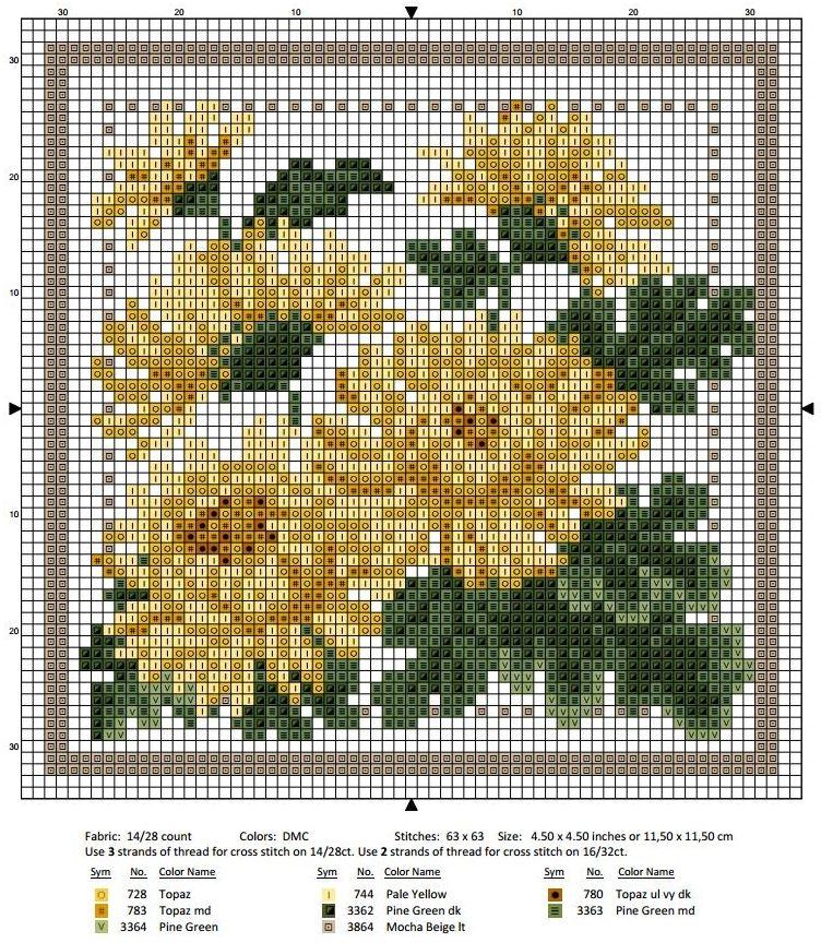 Схема вышивки крестом ноябрь