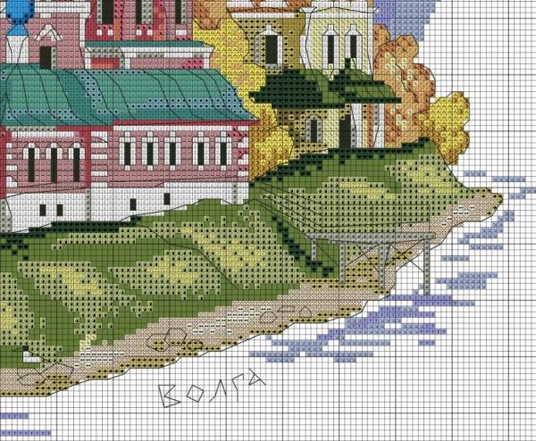 Схема для вышивки крестом город Углич