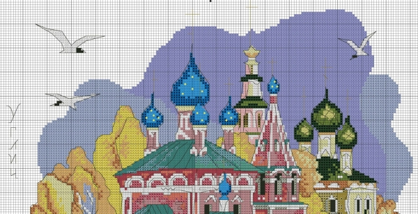Схема вышивки крестом город Углич