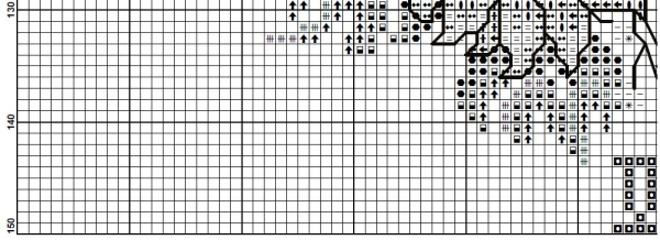Схема для вышивки часов с домиком в подсолнухах