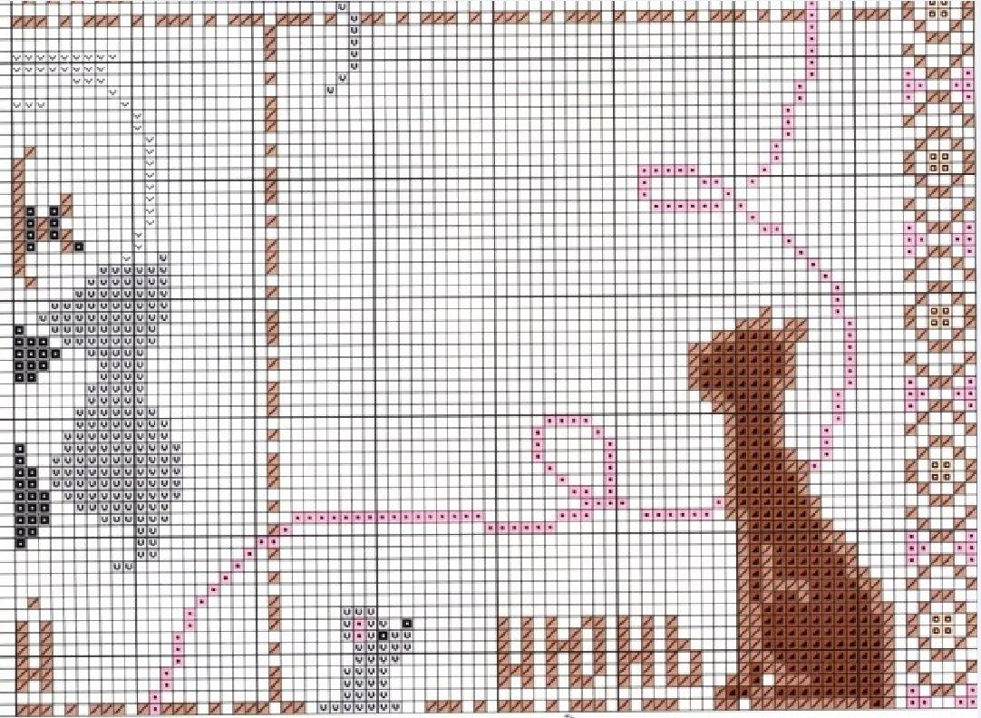 Схемы вышивок котов крестиком 89