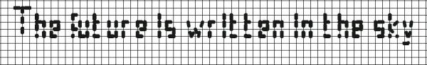 Схема вышивки подписи