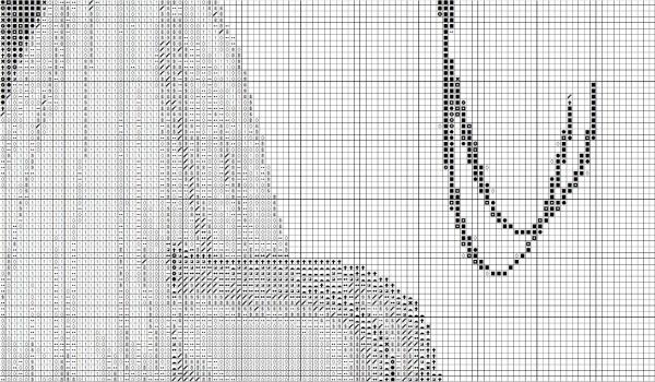 Схема для вышивки крестом детской метрики с аистом