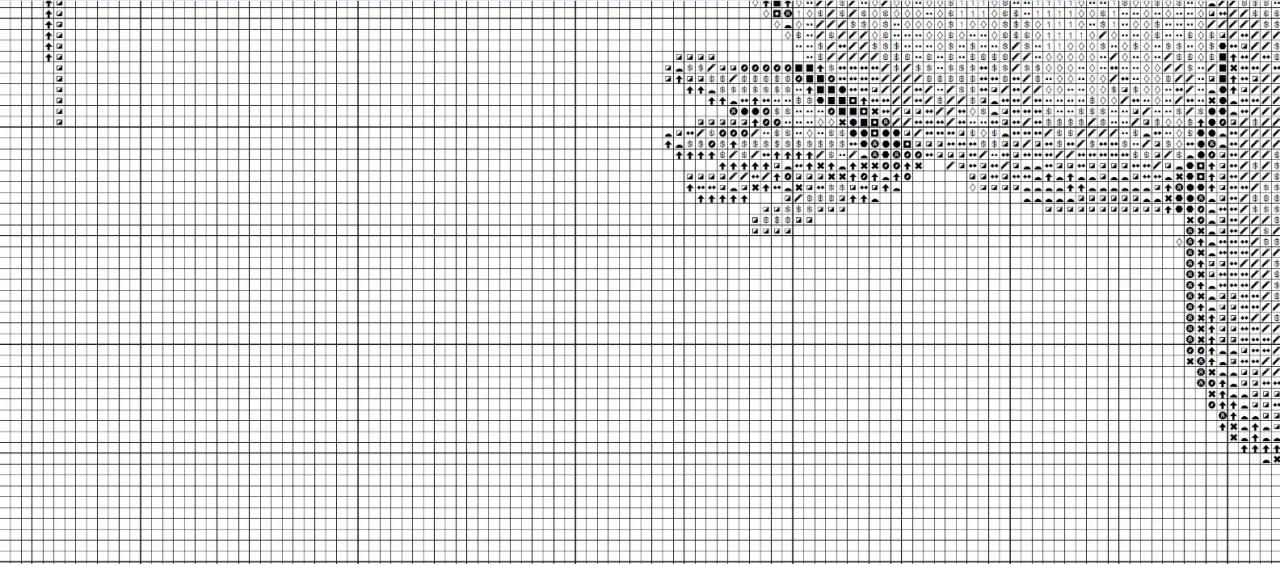 Схема вышивки детской метрики