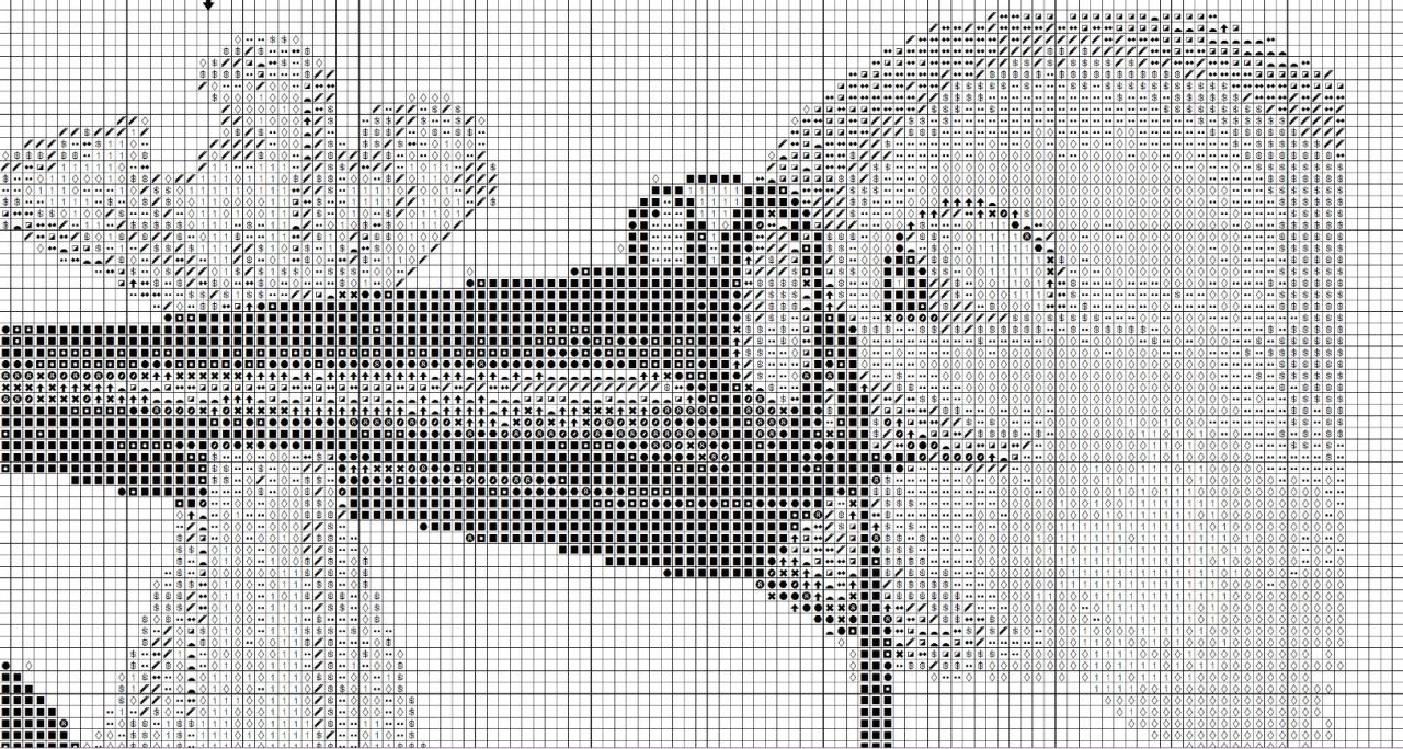 Вышивка крестом схема три грации