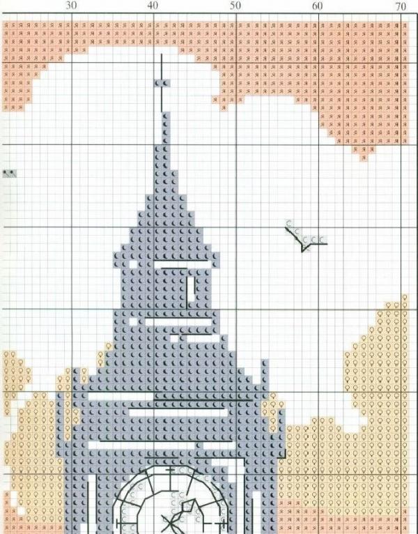 Схема для вышивки крестом Лондон