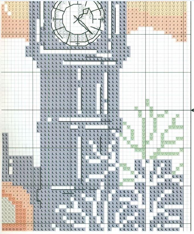 Лондон схема для вышивки 64