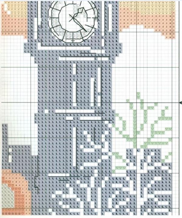 Схема для вышивки Лондон