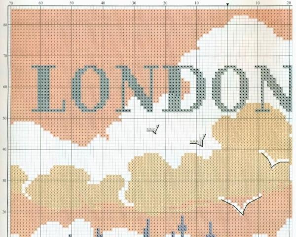 Схема вышивки крестом Лондон