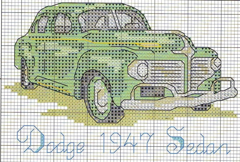 Автомобили ретро вышивка крестом схемы 78