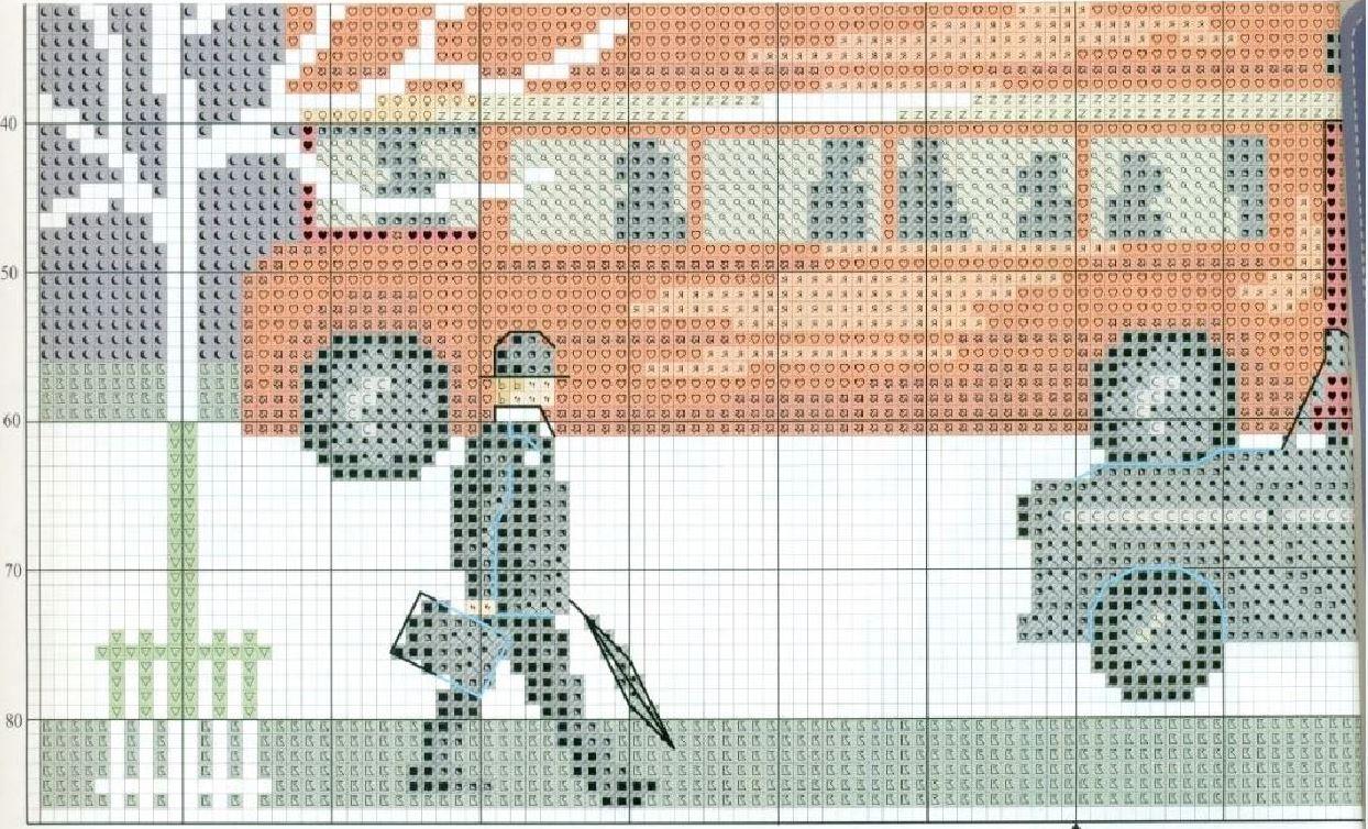 Схема для вышивки лондонский автобус 58