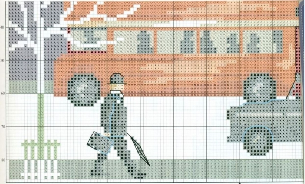 Схема вышивки крестом утренний Лондон