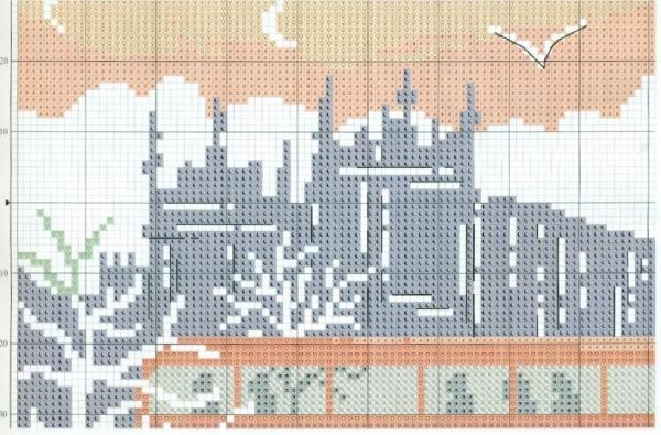 Схема вышивки Лондон