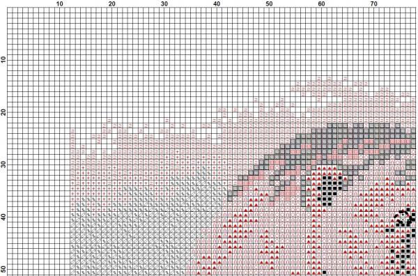 Схема вышивки крестом белый медведь
