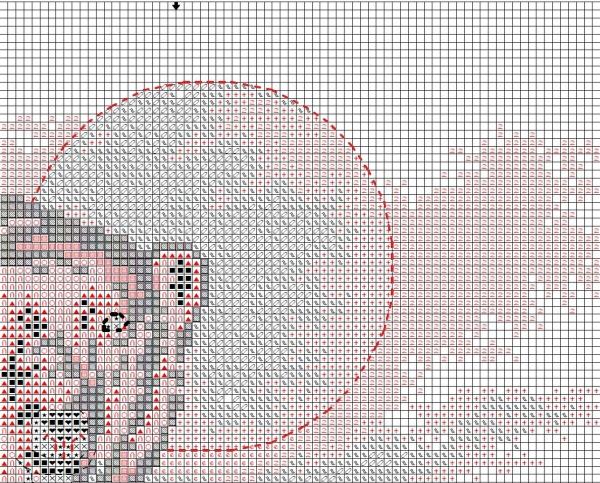 Схема вышивки крестом медведь белый