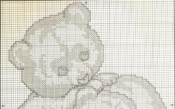 Схема вышивки крестом полярных медведей