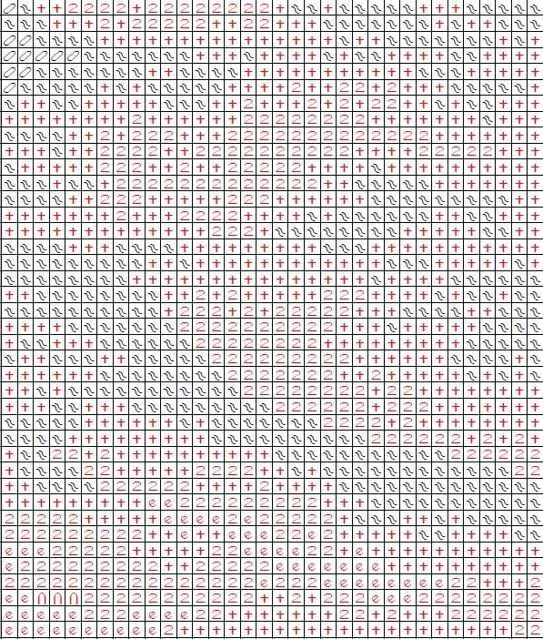 Схема вышивки крестом полярный медведь