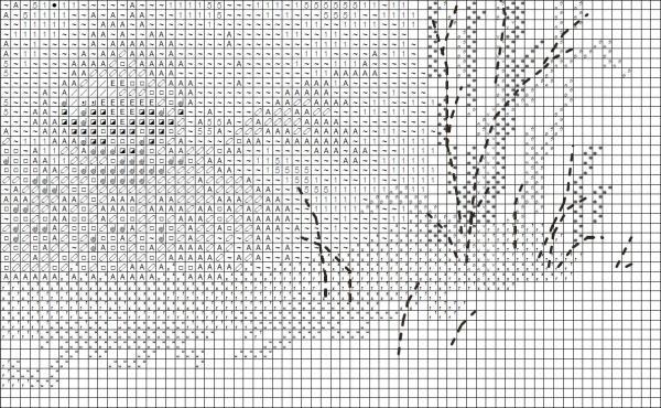 Схема вышивки крестом мишки на снегу