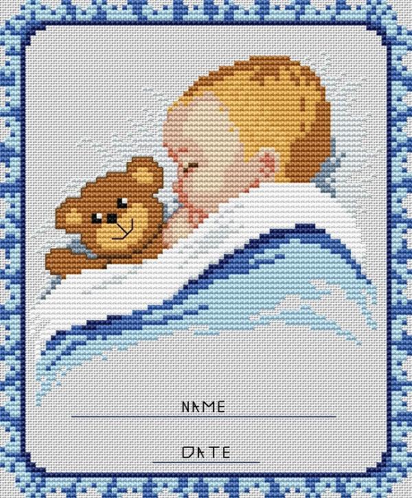 Вышивка крестом ребенок картинки