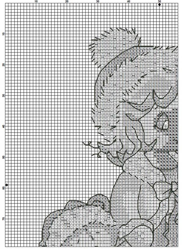 Схема вышивки крестом Рождественская принцесса