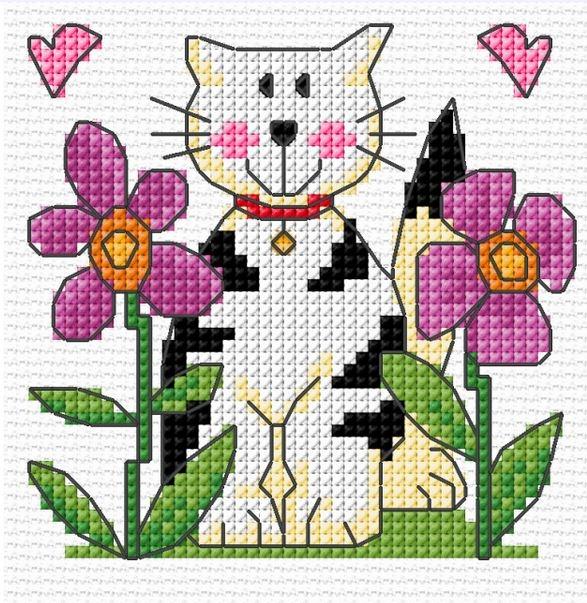 Кошка в цветнике