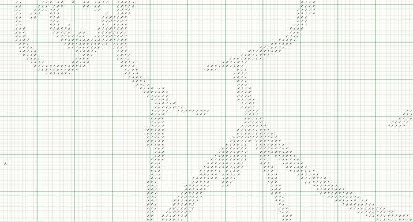 Схема для вышивки крестом пара с воздушными шарами