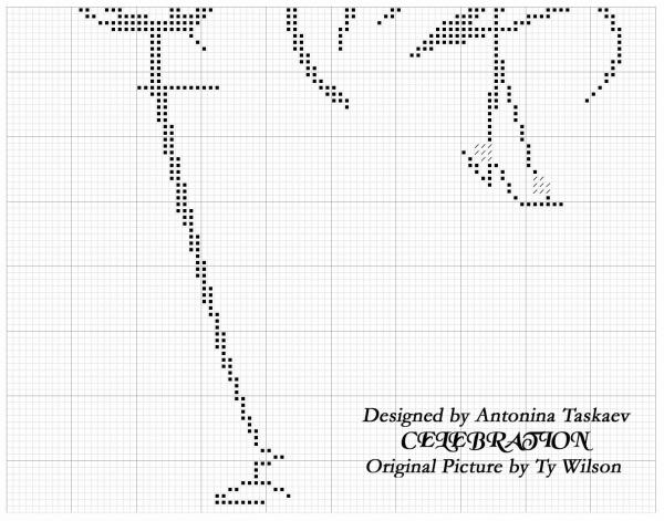 Схема для вышивки крестом романтичной пары
