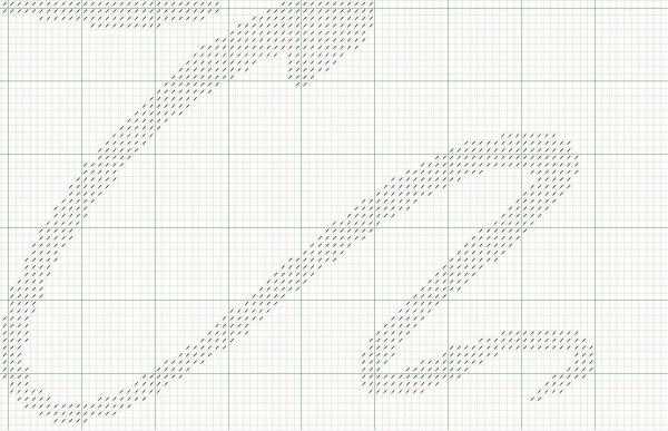 Схема для вышивки пара с шарами