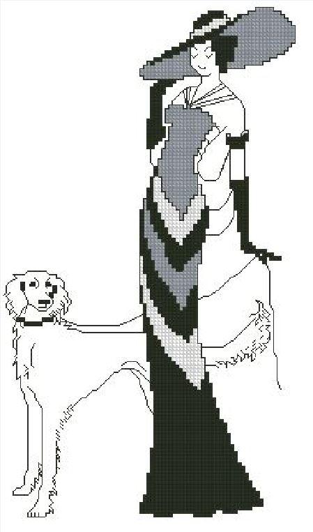 Леди с собакой на прогулке